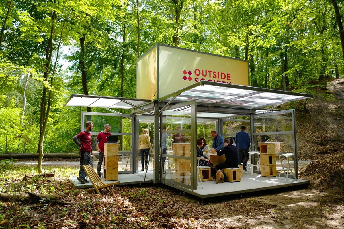 Das mobile Büro von Outside Society