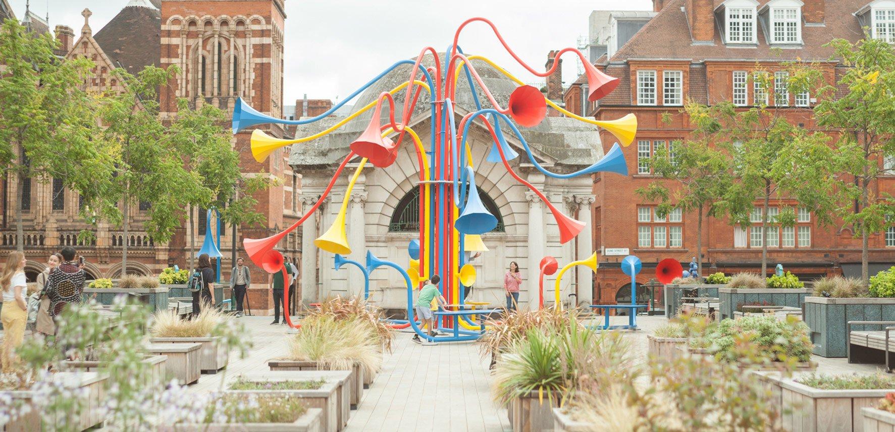 Interaktive Installation Sonic Bloom von Yuri Suzuki in London
